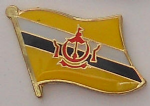 Brunei Country Flag Enamel Pin Badge